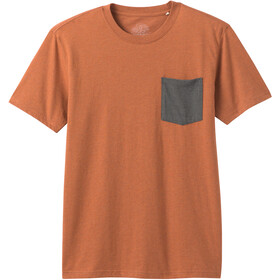 Prana Pocket Camiseta Hombre, russet heather